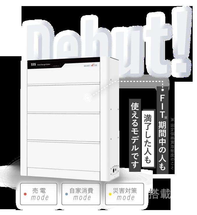 家庭用蓄電池の製品イメージ