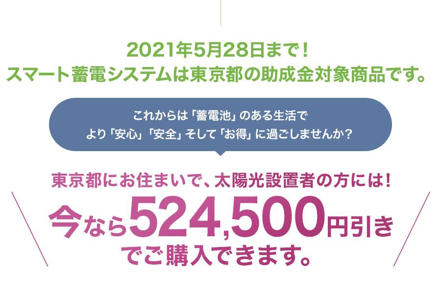 2021年3月29日まで!スマート蓄電システムは東京都の助成金対象商品です。