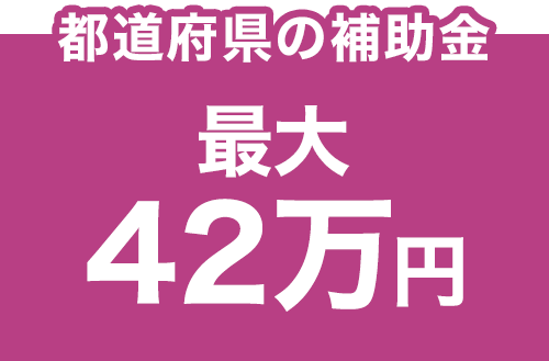 都道府県の補助金 最大42万円
