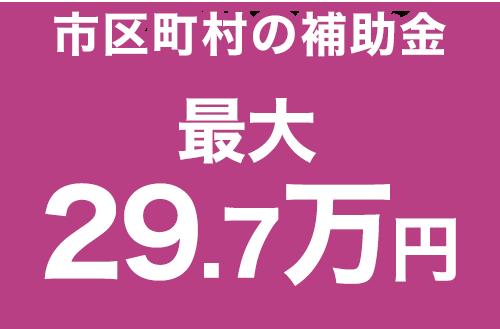 市区町村の補助金 最大29.7万円