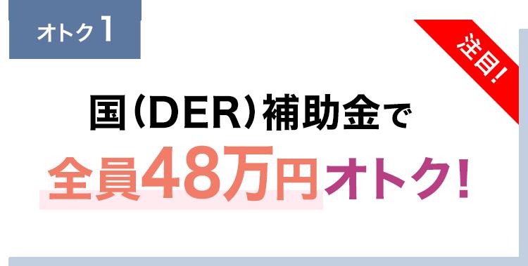 国(DER)補助金で全員53.6万円オトク!