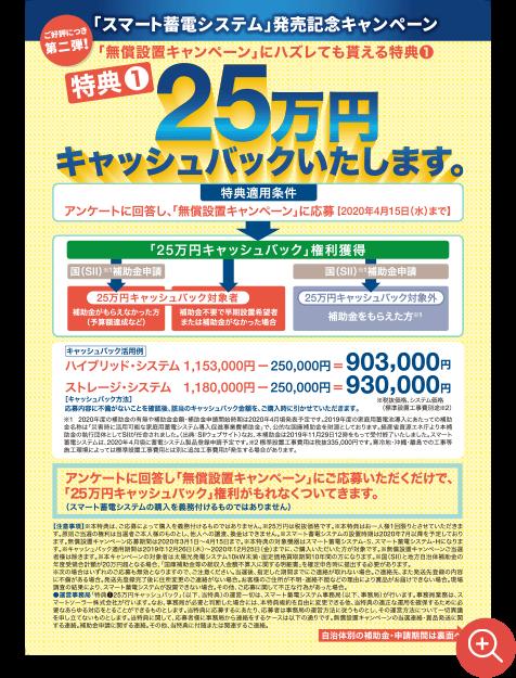 25万円キャッシュバック